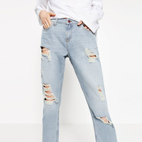 RELAXED FIT MID - RISE JEANS-NEW IN-WOMAN | ZARA United Kingdom