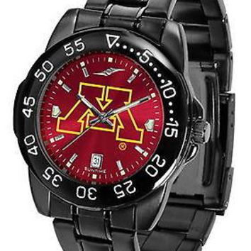 Minnesota Gophers Mens Watch Fantom Gunmetal Anochrome Red Dial