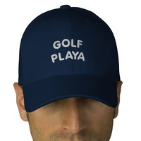 GOLF PLAYA - EMBROIDERED CAP EMBROIDERED HATS from Zazzle.com