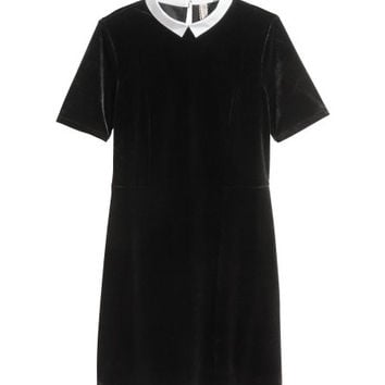 Short Velour Dress - from H&M