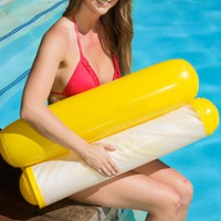 Inflatable Floating PVC Water Hammock Float Lounger Bed Beach Swimming Pool Float Lounge Float Bed Chair For Kids Adults