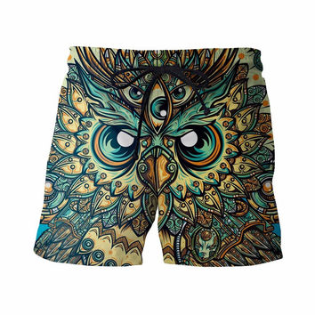 Vintage Religion Owl Board Shorts