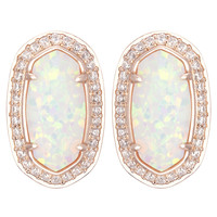 Kendra Scott Elaine Earrings - White Kyocera Opal