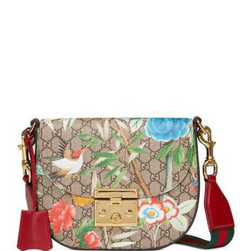 Gucci Padlock Gucci Tian Saddle Bag, Brown