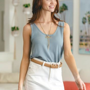 Ruby Blue Sleeveless Top