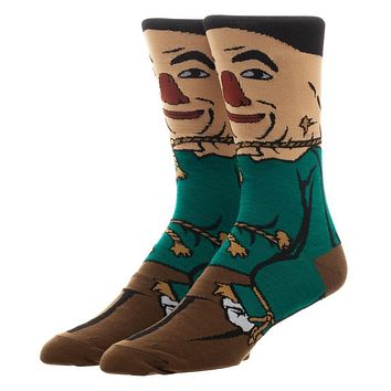 The Wizard of Oz Scarecrow Character Crew Socks