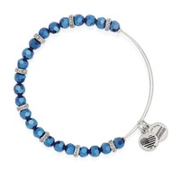 Luminous Cobalt Gleam Beaded Bangle