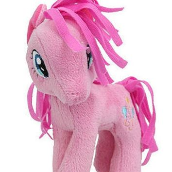 "Licensed cool RARE 5 1/2"" My Little Pony Plush PINKIE PIE Toy Doll Plushie MLP NEW WITH TAGS"