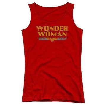 LMFDP2 Wonder Woman Logo Juniors Tank Top