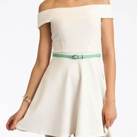 belted a-line dress $34.00 in CORALMINT IVORYMINT ROYALPINK - Casual | GoJane.com