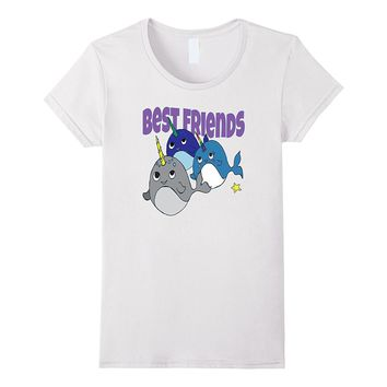 Three Best Friends Narwhal cute T-shirt