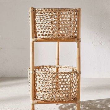 Rattan Two Tier Stand | Urban Outfitters