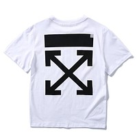 Trendsetter Off-White Women Men Fashion Casual Shirt Top Tee