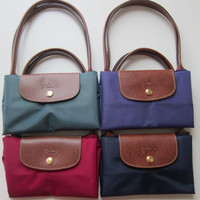 "Longchamp Le Pliage Long Handle Medium(Small) Shoulder Tote- 9.75""x9.75""x5.5"""