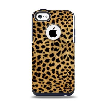 The Orange Cheetah Fur Pattern Apple iPhone 5c Otterbox Commuter Case Skin Set