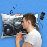 Retro Boombox I Music Pillow