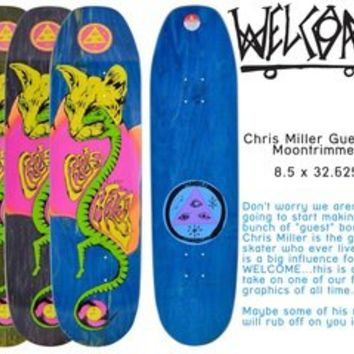 Welcome Skateboards — Chris Miller Guest 8.5 Moontrimmer Shape