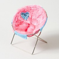 Heart Fuzzy Cell Phone Chair  | Claire's