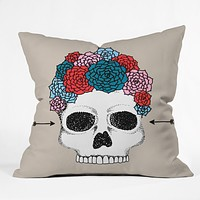 Wesley Bird Florita Throw Pillow