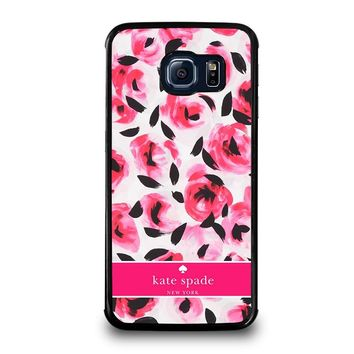KATE SPADE NEW YORK PINK ROSE Samsung Galaxy S6 Edge Case Cover