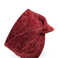 FOREVER 21 Marled Knit Twisted Headwrap Cherry One