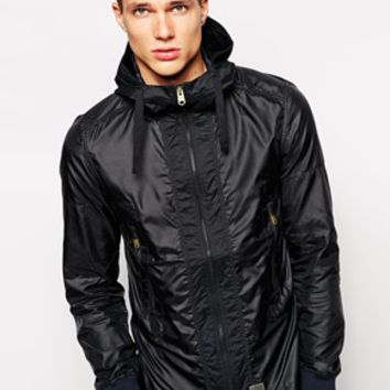 G Star Hooded Overshirt Jacket Tamson Nylon
