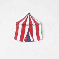 Circus Tent Brooch - Made To Order