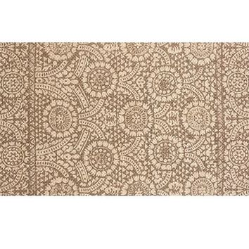 Sunny Printed Natural Fiber Rug - Brown