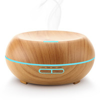 Toloyo 200ml Aroma Essential Oil Diffuser Air Humidifier Wood Grain Aromatherapy