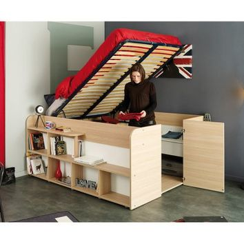 Parisot Space Up Storage Bed - Full - Beds at Hayneedle