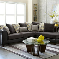 Abbington Ash Chaise Sectional Sofa