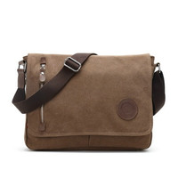 Fashion Canvas Messenger Bag Laptop Bag Satchel Crossbody Shoulder Sling Bag