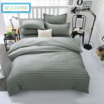 Cool BEST.WENSD comforter set Jacquard and stripe style of king queen size bedding sets quilt cover bed sheet pillowcases bedclothesAT_93_12