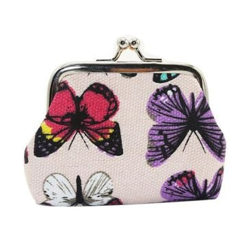 Butterfly Coin Purse Clutch Bag Xiniu women wallet