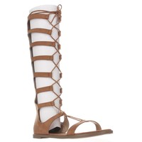 Chinese Laundry Galactic Tall Lace Up Gladiator Sandals, Cocoa Brown, 8.5 US / 39 EU