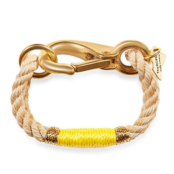 The ROPES | Beige and Yellow Camden Rope Bracelet