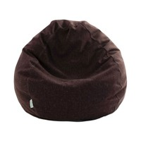 Small Classic Linen-Twill Bean Bag - Wales - Chocolate