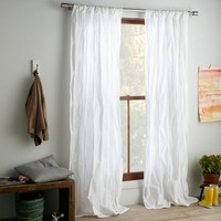 Pintuck Curtain - White