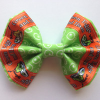 Girl's Dr. Suess' Green Eggs and Ham Fabric Hair Bow