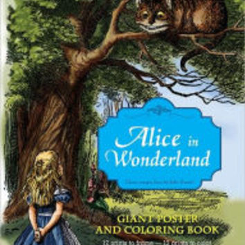 alice in wonderland giant poster and coloring book - Giant Coloring Book