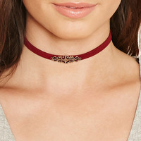 Ornate Faux Suede Choker