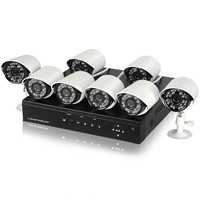8 Camera CCTV DVR System - H.264 Mobile Surveillance, With Internet, 3G Support, Motion Detection + Alarm Recording