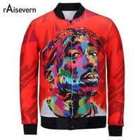 Raisevern New Harajuku Autumn Men/women's Jacket 3d Print Tupac 2pac