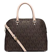 MICHAEL Michael Kors Signature Cindy Large Convertible Dome Satchel