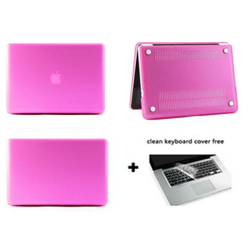 computer accessories notebook sleeve laptop Case matte rose red protector for macbook pro 13/retina 13 air 11 13+keyboard cover