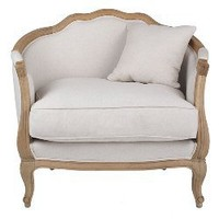 Linen European Furniture - Bleached Linen Chair
