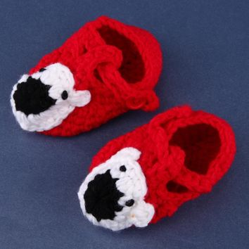 Baby Shoes Handmade Crochet Infants Knit Toddler Shoes For Baby Girls Boy Newborn 0-12