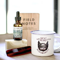 Groomsman Gift, Mens Gift, funny gift for him, Husband Gift, Beer Mug, Dad Gift, Beard Gift, Beard Oil, Beard Care Kit,