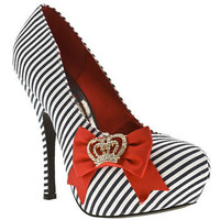 Women's Navy & White Schuh Colette Crown Bow at Schuh