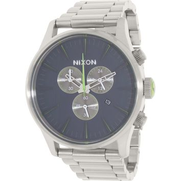 Nixon Men's Sentry A3861981 Silver Stainless-Steel Quartz Dress Watch